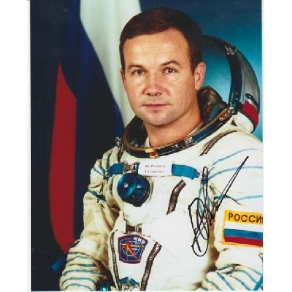 Cosmonaut Yury Lonchakov genuine authentic signed autograph photo