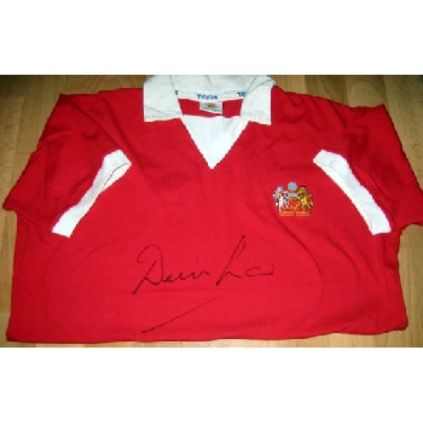 Denis Law Manchester United authentic signed shirt 2