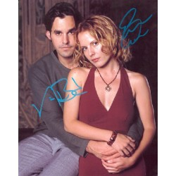 Emma Caulfield Nicholas Brendon signed autograph photo.