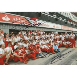 F1 Ferrari Team photo signed by Massa, Todt and Kimi