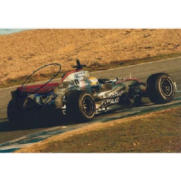 F1 McLaren Lewis Hamilton genuine signed authentic signature photo