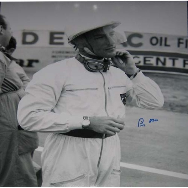 F1 Mercedes Stirling Moss genuine signed authentic signature photo 5