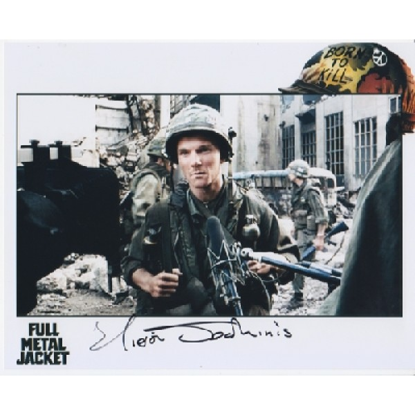 Full Metal Jacket Kieron Jechinis genuine signed authentic signature photo