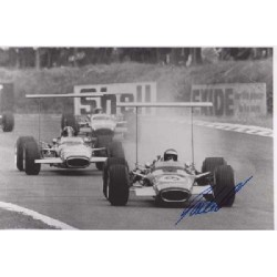 Jackie Oliver Lotus 49 F1genuine signed autograph photo