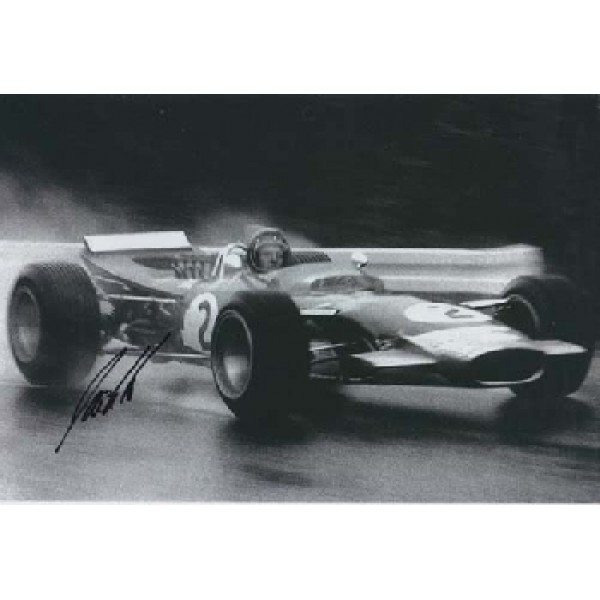 Jackie Oliver Lotus F1 signed autograph photo 2
