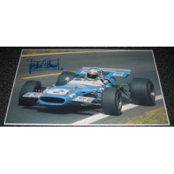 Jackie Stewart Matra Ford large authentic genuine signed autograph image.