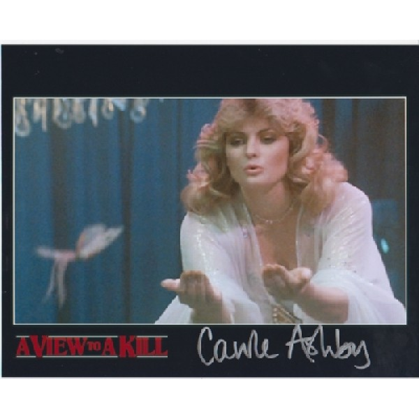 James Bond Carole Ashby genuine signed authentic signature photo