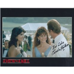James Bond Caroline Hallett genuine signed authentic signature photo