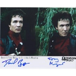 James Bond David & Tony Meyer signed original genuine autograph authentic photo