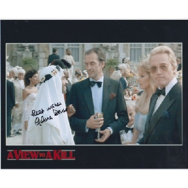 James Bond Gloria Douse genuine signed authentic signature photo