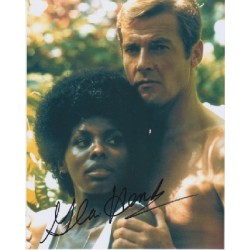 James Bond Gloria Hendry genuine signed authentic signature photo