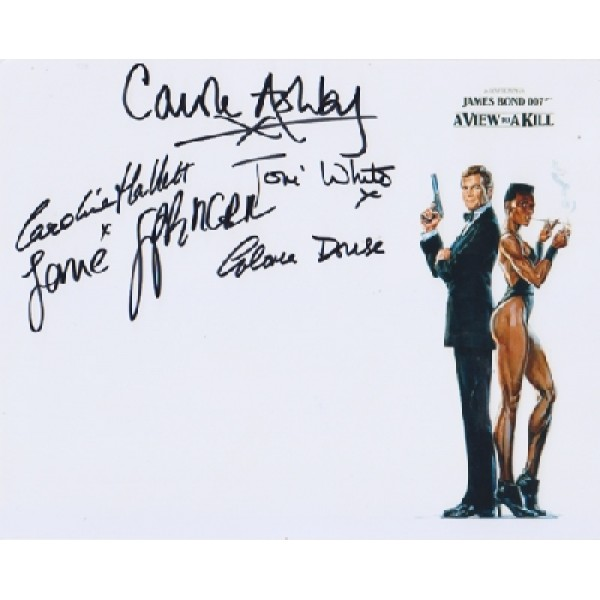 James Bond Multi genuine signed authentic signature photo
