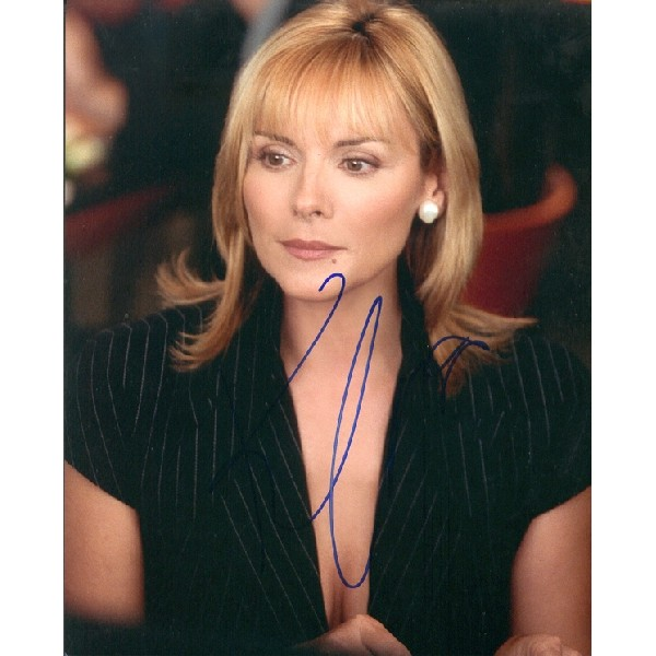 Kim Cattrall SATC signed autograph photo.