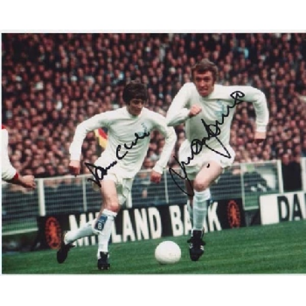 Leeds Allan Clarke Mick Jones signed autograph photo.