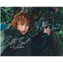 Lord rings Billy Boyd John Ryhs Davies signed autograph colour photo 2