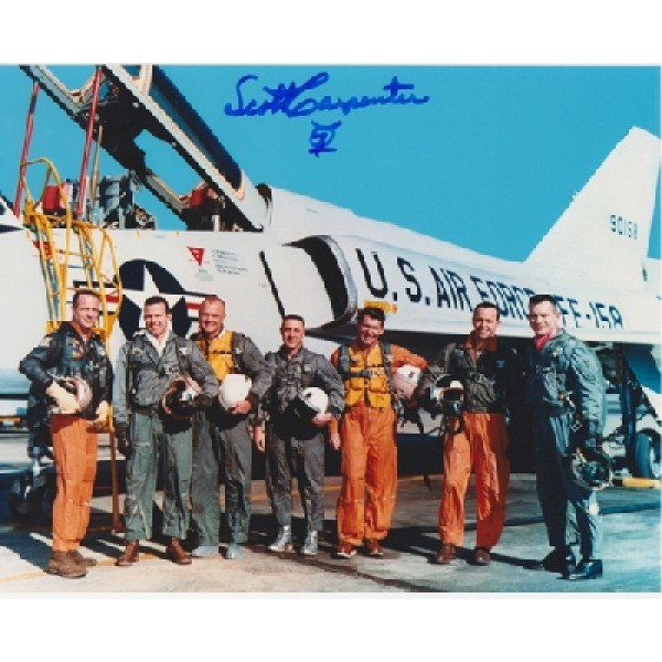 Mercury Scott Carpenter signed autograph colour photo 1