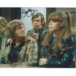 Please Sir cast authentic signed autograph colour photo