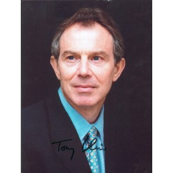 Prime Minister Tony Blair signed autograph photo