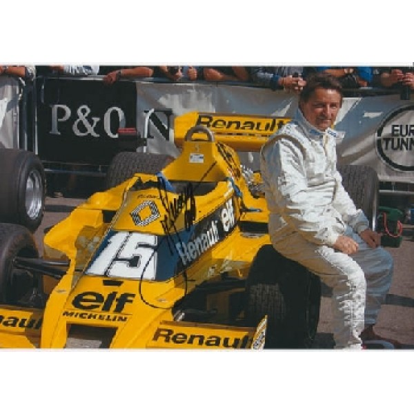 Rene Arnoux Renault  signed photo.