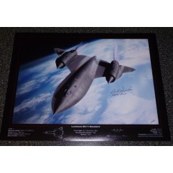 Rich Graham Blackbird SR71 Pilot genuine signed authentic signature photo