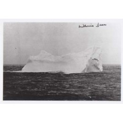 RMS Titanic signed autograph iceberg photo by Survivor Millvina