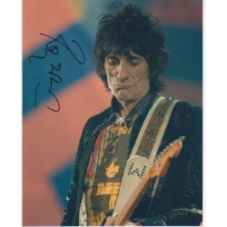 Rolling Stones Ronnie Wood signed autograph colour photo 2