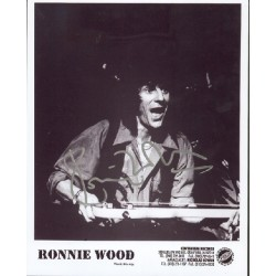 Ronnie Wood Rolling Stones genuine signed authentic signature photo