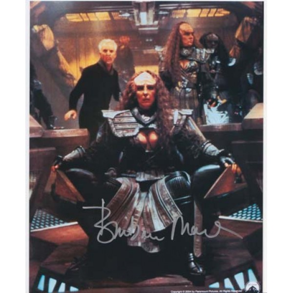 Star Trek DS9 TNG Barbara March signed original genuine autograph authentic photo