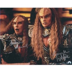 Star Trek Gwynyth Walsh & Babara Marchsigned autograph photo 2