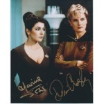 Star Trek Sirtis and Crosby signed original genuine autograph authentic photo