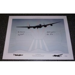 The Dambusters Grayston Johnson Munro large authentic signed photo