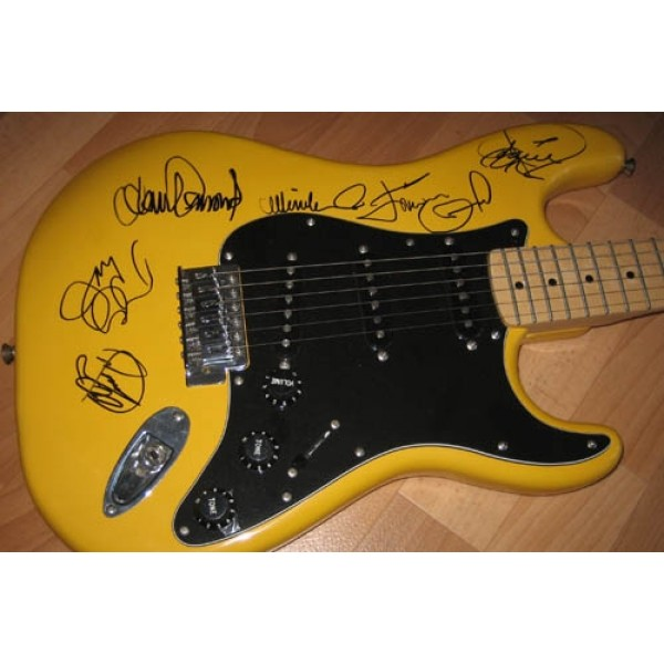 The Osmonds signed autograph guitar