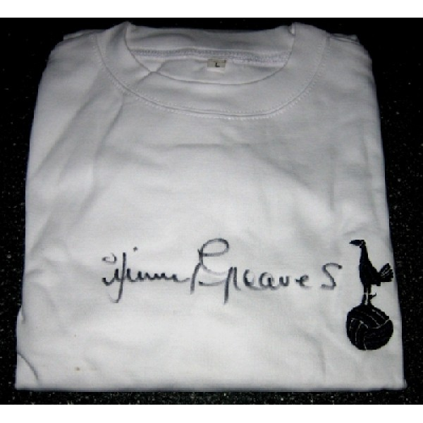 Tottenham Spurs Jimmy Greaves signed football shirt