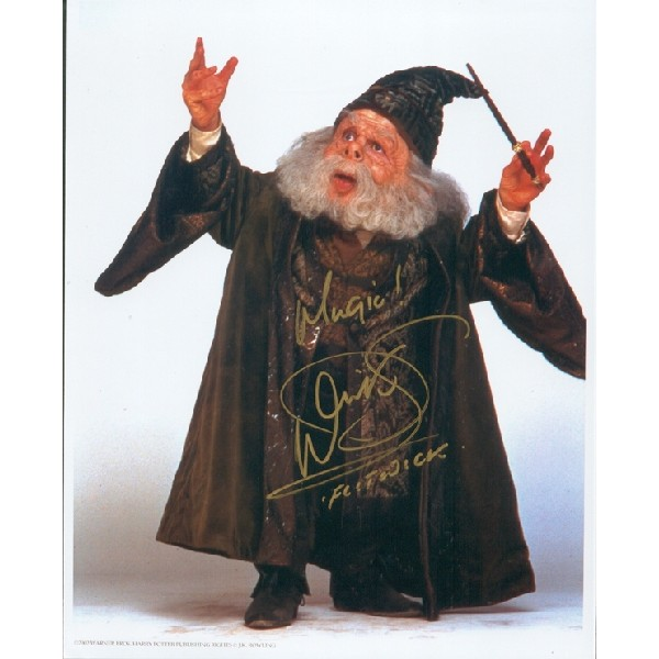 Warwick Davis Harry Potter authentic genuine signed autograph photo