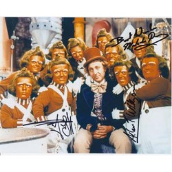 Willy Wonka Oompa Loompa's signed original genuine autograph authentic photo