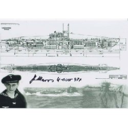 WW2 German U-Boat photo U-977 signed Helmut Maros signed photo