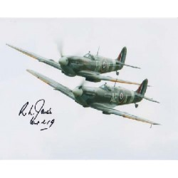 WW2 Spitfire ace Richard Jones signed autograph photo 2