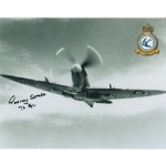 WW2 Spitfire ace Rodney Scrase signed autograph photo 2