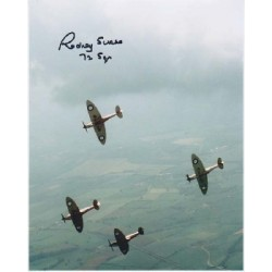 WW2 Spitfire ace Rodney Scrase signed autograph photo 4