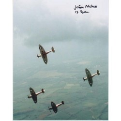 WW2 Spitfire rigger John Milne signed autograph photo 1