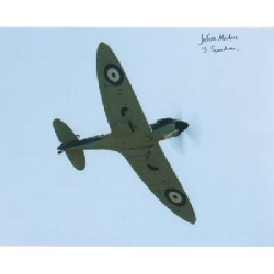 WW2 Spitfire rigger John Milne signed autograph photo 2