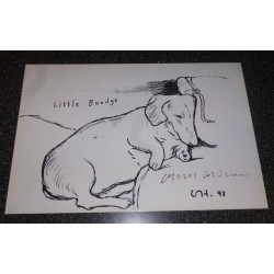 "David Hockney ""Little Boodge"" signed authentic autograph print"