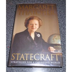 Margaret Thatcher Prime Minister Statecraft genuine authentic autograph signed book 3.