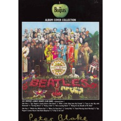 Peter Blake Sgt Pepper Beatles authentic genuine signed autograph postcard.