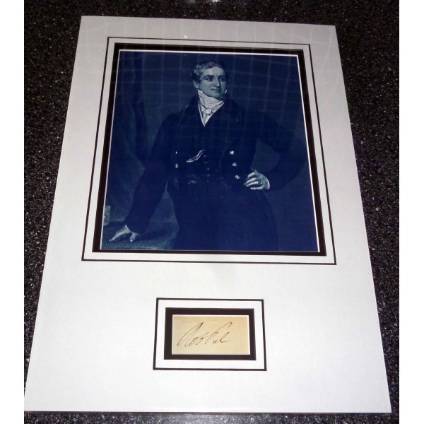 Robert Peel Police PM signed authentic autograph photo display