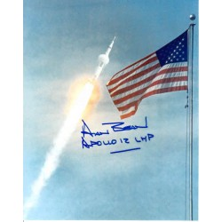 Alan Bean Apollo 12 LMP genuine authentic autograph signed photo.