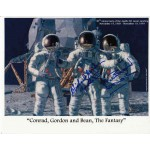 Alan Bean Pete Conrad Dick Gordon Apollo 12 genuine authentic autograph signed photo.