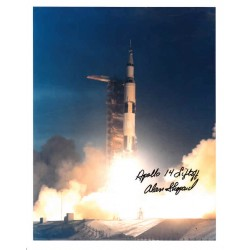 Alan Shepard Apollo 14 genuine authentic autograph signed photo.