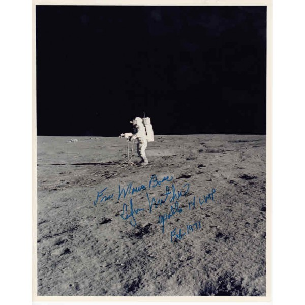 Ed Mitchell Apollo 14 genuine authentic autograph signed photo.