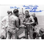 Mercury Scott Carpenter Wally Schirra genuine authentic autograph signed photo.